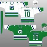 1982-83 Hartford Whalers Uniform Design