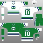 1985-89, 1990-91 Hartford Whalers Uniform Design