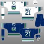 1992-97 Hartford Whalers Uniform Design